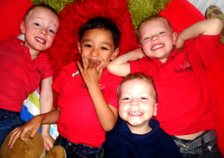 Some happy angels at Little Angels nursery in Stalybridge